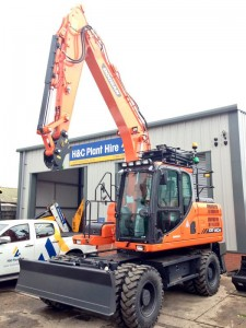 H&C invest in brand new #Doosan DX140W wheeled excavators available both operated & self-drive, Sep 15!